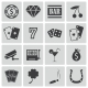 Vector Black Casino Icons Set - GraphicRiver Item for Sale