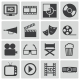 Vector Black Cinema Icons Set - GraphicRiver Item for Sale