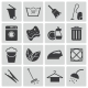Vector Black Cleaning Icons Set - GraphicRiver Item for Sale