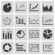 Vector Black Diagram Icons Set - GraphicRiver Item for Sale