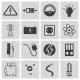 Vector Black Electricity Icons Set - GraphicRiver Item for Sale