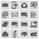 Vector Black Email Icons Set - GraphicRiver Item for Sale