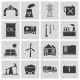 Vector Black Industry Icons Set - GraphicRiver Item for Sale