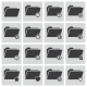 Vector Black Folder Icons Set - GraphicRiver Item for Sale