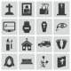 Vector Black Funeral Icons Set - GraphicRiver Item for Sale