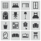 Vector Black Furniture Icons Set - GraphicRiver Item for Sale