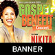 Gospel Benefit Concert: Church Banner Template - GraphicRiver Item for Sale