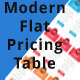 Modern Flat Pricing Table - GraphicRiver Item for Sale