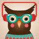 Illustration of Hipster Owl - GraphicRiver Item for Sale