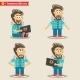 Young IT Geek Emotions in Poses, Standing Set - GraphicRiver Item for Sale