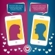 Couple Virtual Love Talking Using Mobile Phones - GraphicRiver Item for Sale