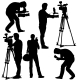 Cameramen Silhouettes with Video Camera  - GraphicRiver Item for Sale