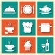 Icons Set for Restaurant or Cafe - GraphicRiver Item for Sale