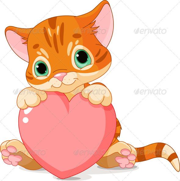 cat heart clipart - photo #47