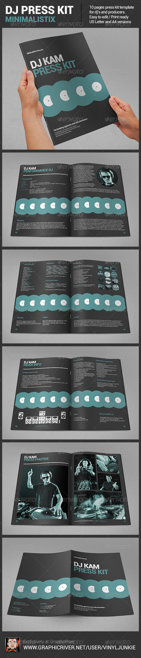 Minimalistix dj press kit graphicriver for Dj press kit template free
