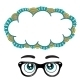 Glasses with Eyes Dreaming Concept - GraphicRiver Item for Sale