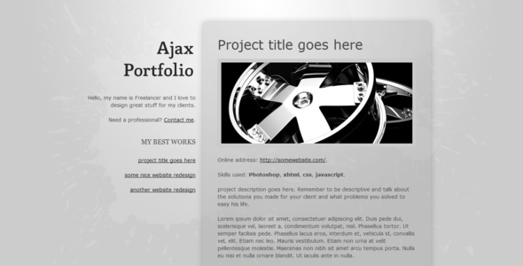 ThemeForest Ajax Portfolio 20538