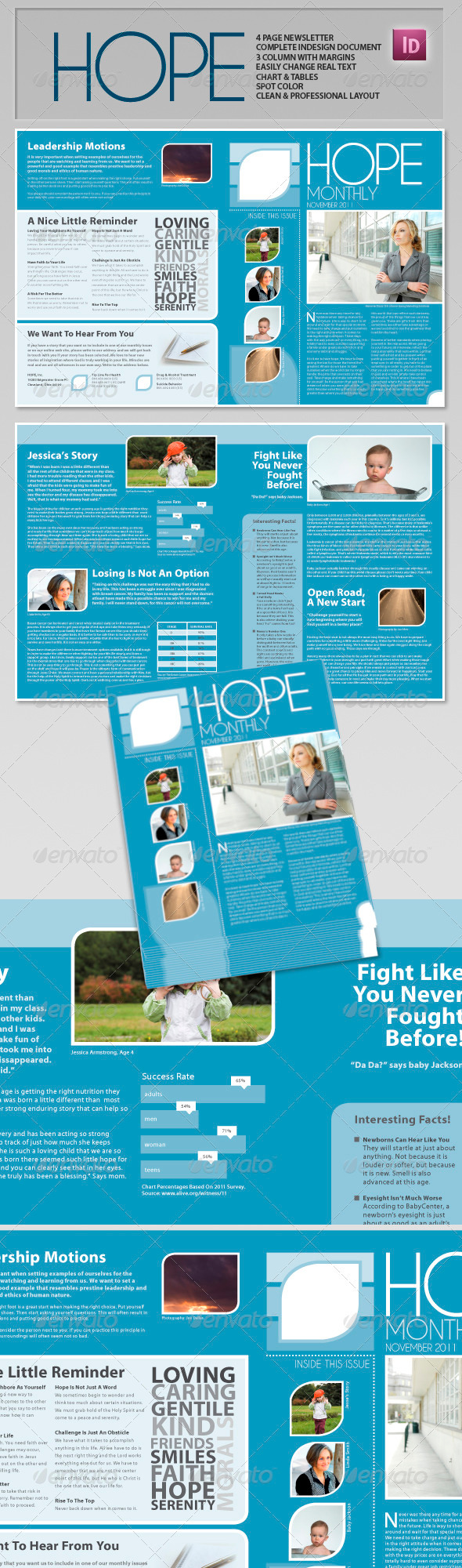GraphicRiver Hope Clean Professional Newsletter 684784