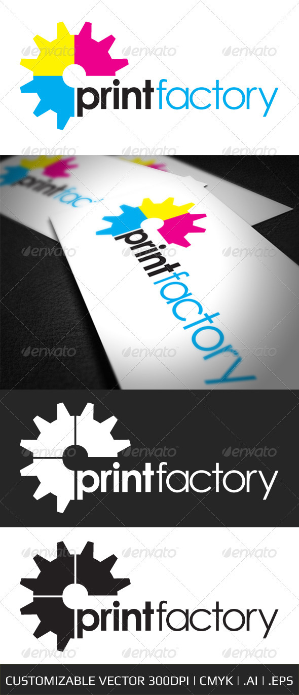 GraphicRiver Print Factory Logo Template 684801