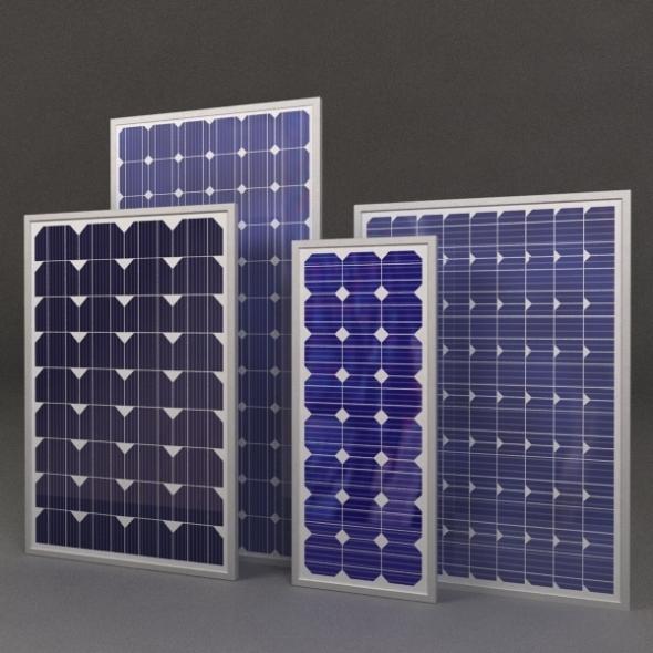 3DOcean Solar Panels 3D Models -  Science 684828