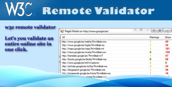 CodeCanyon w3c remote site validator 686458