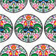Seamless Polish Floral Pattern with Roosters - GraphicRiver Item for Sale