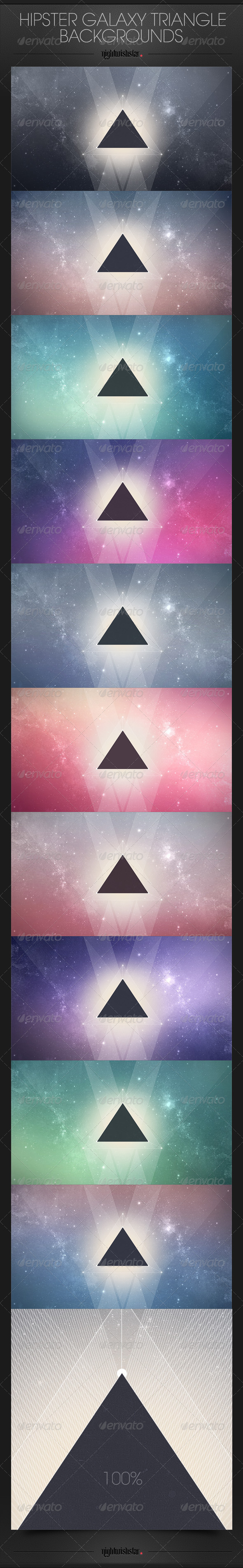 Hipster Galaxy Triangle Backgrounds | GraphicRiver