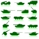 Collection Set of Tanks of Guns - GraphicRiver Item for Sale