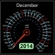 2014 December Calendar Car Speedometer - GraphicRiver Item for Sale