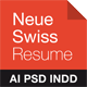 Neue Swiss Resume - GraphicRiver Item for Sale