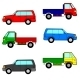 Set Cars, Trucks and Cars. - GraphicRiver Item for Sale
