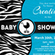 Baby Shower Invitation Template - Animal Print v2 - GraphicRiver Item for Sale