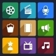 Movie Flat Icons Set 37 - GraphicRiver Item for Sale