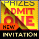 Admit One VIP Ticket Invitation Template - GraphicRiver Item for Sale