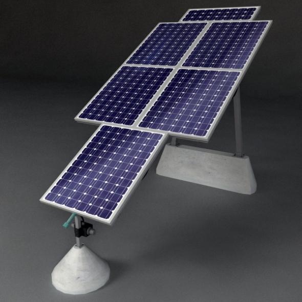 3DOcean Solar Panels 2 3D Models -  Science 692769