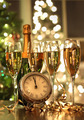 Four glasses of champagne ready for the New Year - PhotoDune Item for Sale