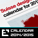 Calendars 2014 -  2015 Swiss Design - GraphicRiver Item for Sale