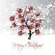 Christmas Card Design with Winter Rowan Tree - GraphicRiver Item for Sale