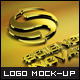 8 Styles Gold Effect Logo Mpck-ups - GraphicRiver Item for Sale