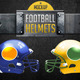 Football Helmets Layered and Editable Colors - GraphicRiver Item for Sale