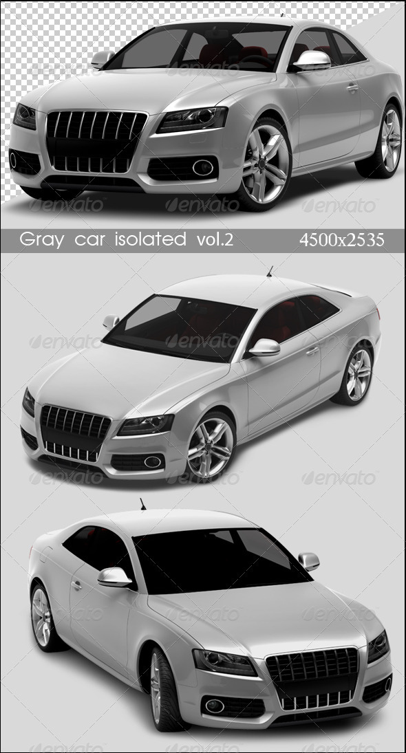 GraphicRiver Gray Cars Isolated Vol.2 694416