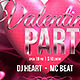 Valentine Party Flyer 4x6 - GraphicRiver Item for Sale