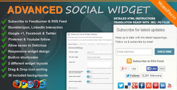 social media widgets WordPress