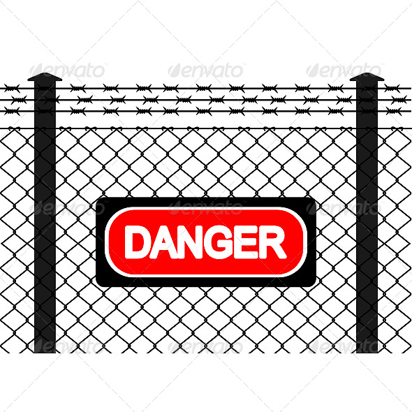 GraphicRiver Wire Fence with Barbed Wires 6619664
