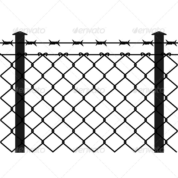 GraphicRiver Wire Fence with Barbed Wires 6619669
