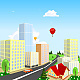 Vector City with a Balloon in the Background - GraphicRiver Item for Sale