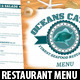Seafood Restaurant Menu Template - GraphicRiver Item for Sale