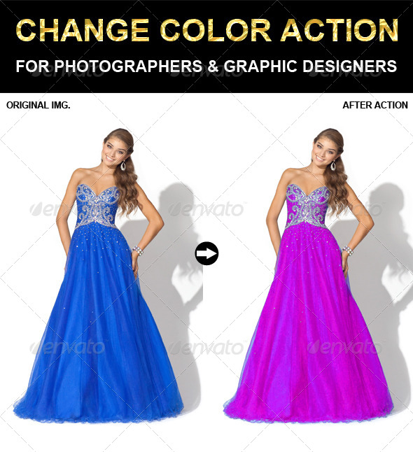 GraphicRiver Change Color Photoshop Action 6625520