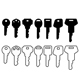 black house key icon set - GraphicRiver Item for Sale