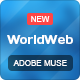 WorldWeb Muse Template - ThemeForest Item for Sale
